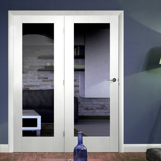 Image: Easi-Frame White Door Set - GWPP10-COEOP37L - 2005mm Height - 1508mm Wide.