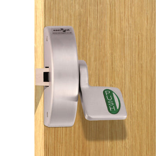 Image: Silver Painted: Narrow Style Panic Push Pad Latch XSA5002 - 2 Colour Options