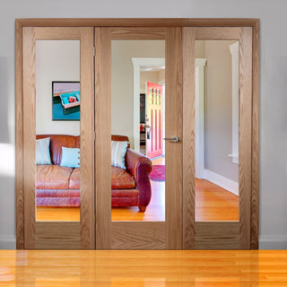 Image: Easi-Frame Oak Door Set - GOSHAP10-COEOP29 - 2005mm Height - 2442mm Wide.
