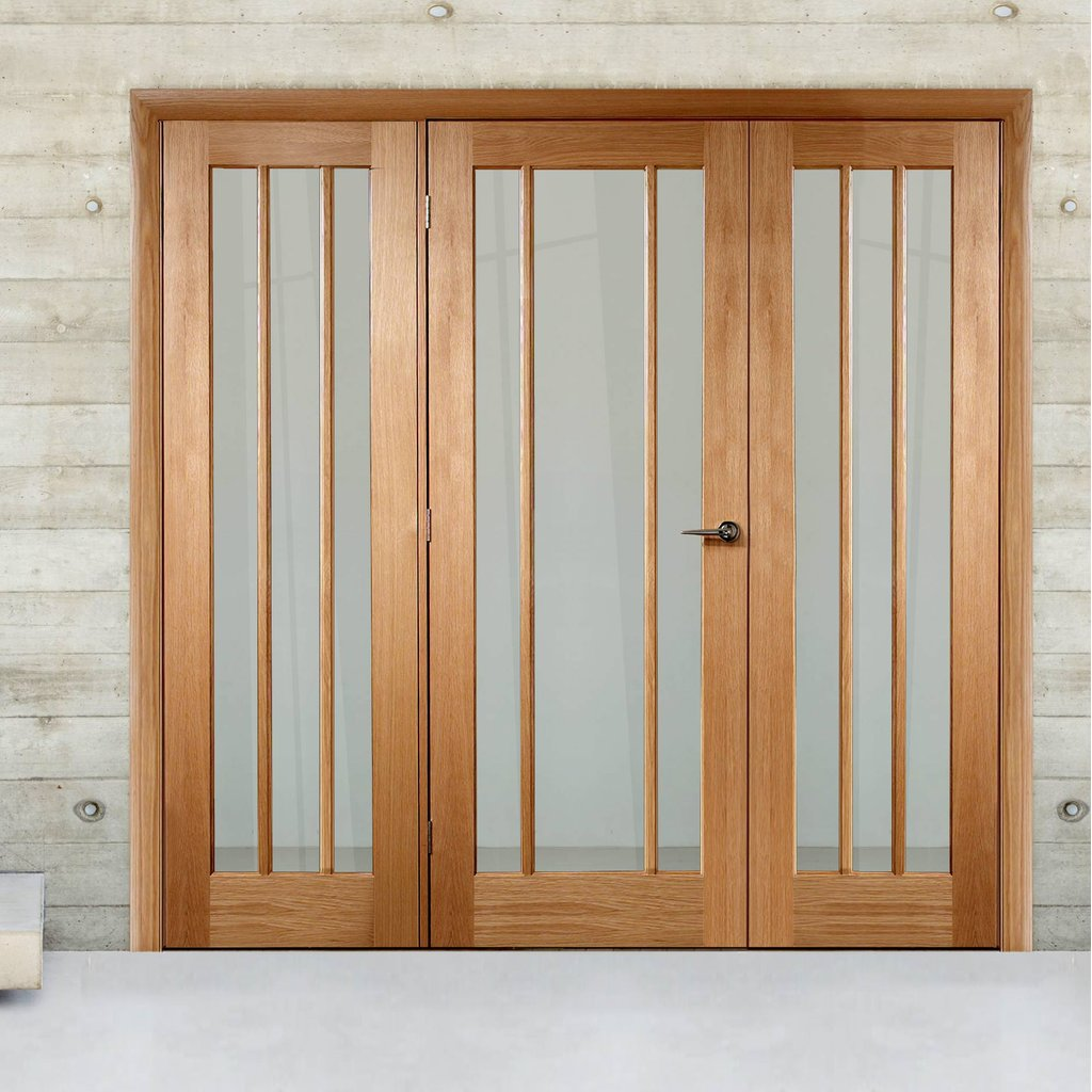 Easi-Frame Oak Door Set - GOWOR-COEOP28 - 2005mm Height - 2290mm Wide.