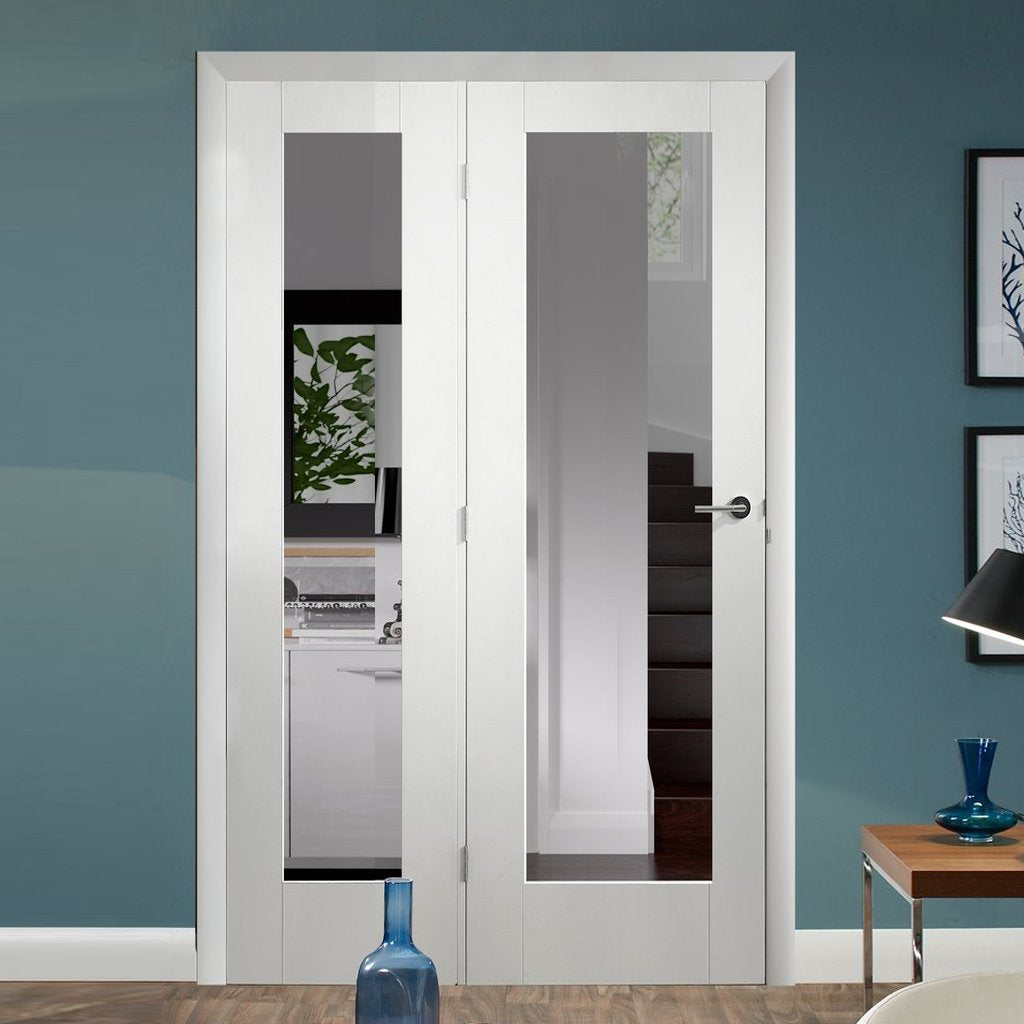 Easi-Frame white primed Door Set - GWPP10-COEOP31L - 2005mm Height - 1127mm Wide.
