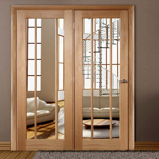 Image: Easi-Frame Oak Door Set - GOWOR-COEOP35L - 2005mm Height - 1660mm Wide.