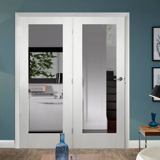 Image: Easi-Frame White Door Set - GWPP10-COEOP40L - 2005mm Height - 1736mm Wide.