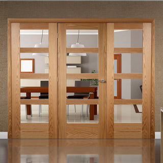 Image: Easi-Frame Oak Door Set - GOSHA4L-COEOP29 - 2005mm Height - 2442mm Wide.