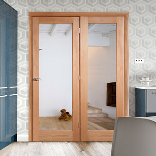 Image: Easi-Frame Oak Door Set - GOSHAP10-COEOP39L - 2005mm Height - 1660mm Wide.