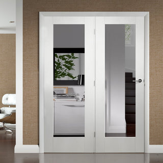 Image: Easi-Frame White Door Set - GWPP10-COEOP34L - 2005mm Height - 1584mm Wide.