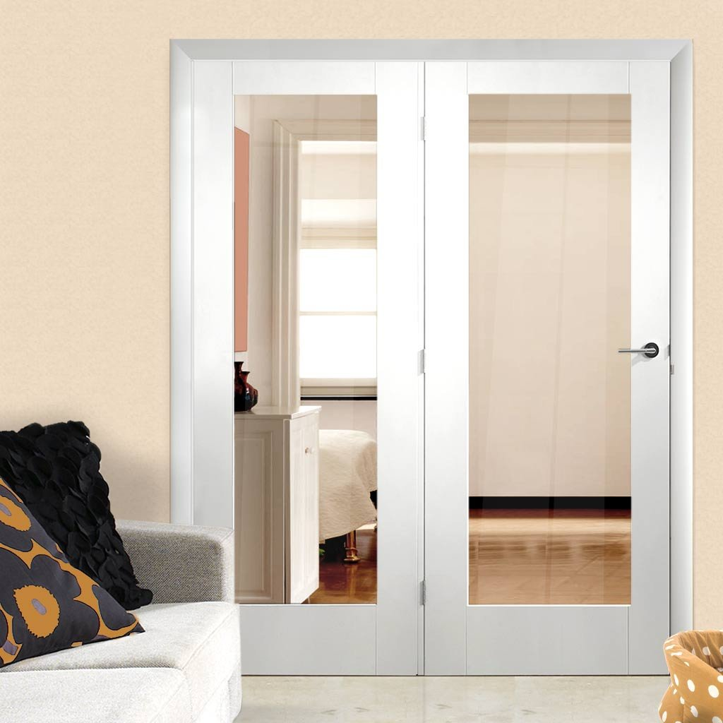 Easi-Frame White Door Set - GWPP10-COEOP38L - 2005mm Height - 1584mm Wide.