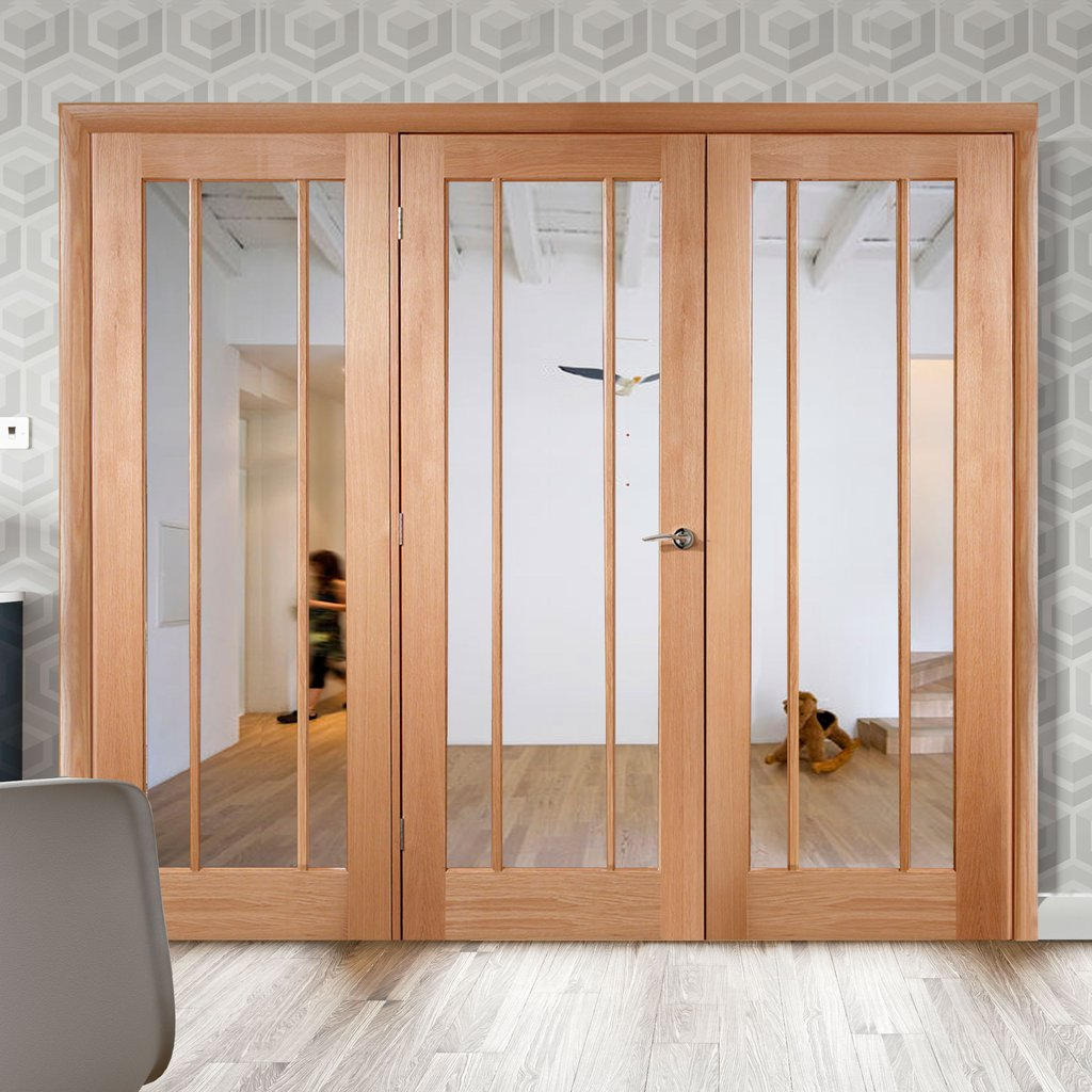Easi-Frame Oak Door Set - GOWOR-COEOP30 - 2005mm Height - 2594mm Wide.