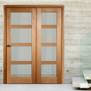 Image: Easi-Frame Oak Door Set - GOSHA4L-COEOP38L - 2005mm Height - 1584mm Wide.