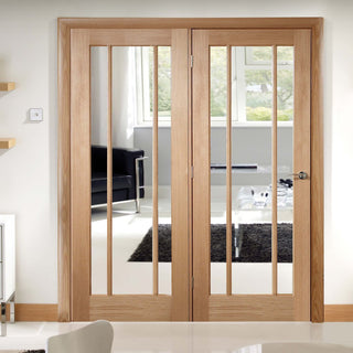 Image: Easi-Frame Oak Door Set - GOWOR-COEOP40L - 2005mm Height - 1736mm Wide.