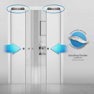 Image: Ermetika Easy Stop Soft Closing Kit for Double Pocket Doors