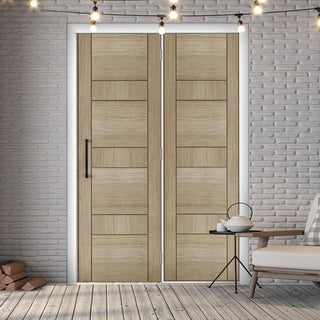 Image: ThruEasi Room Divider - Edmonton Light Grey Prefinished Door with Single Side - 2018mm High - Multiple Widths