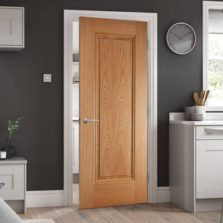 Image: eindhoven 1 panel oak door prefinished