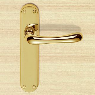 Image: EL12 Euroline Ibra Lever Latch Handles - 3 Finishes