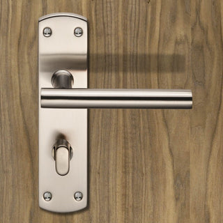 Image: Steelworx CSLP1164T T-Bar Bathroom Lever Lock Handles - 2 Finishes