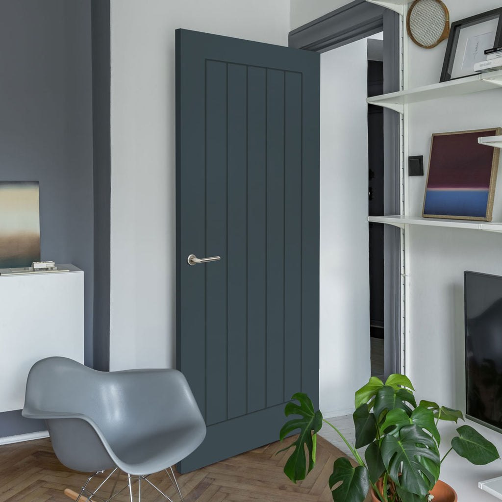 Prefinished Graphite Grey Colour Ely Door