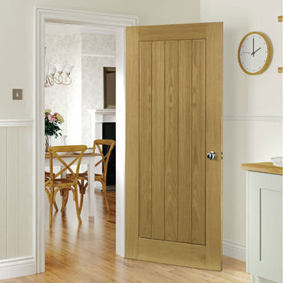 Image: Ely Oak Fire Door - 1/2 Hour Fire Rated - Unfinished