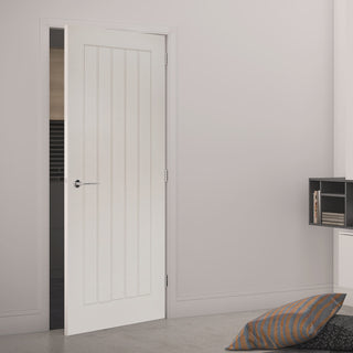 Image: Ely White Primed Door from Deanta UK