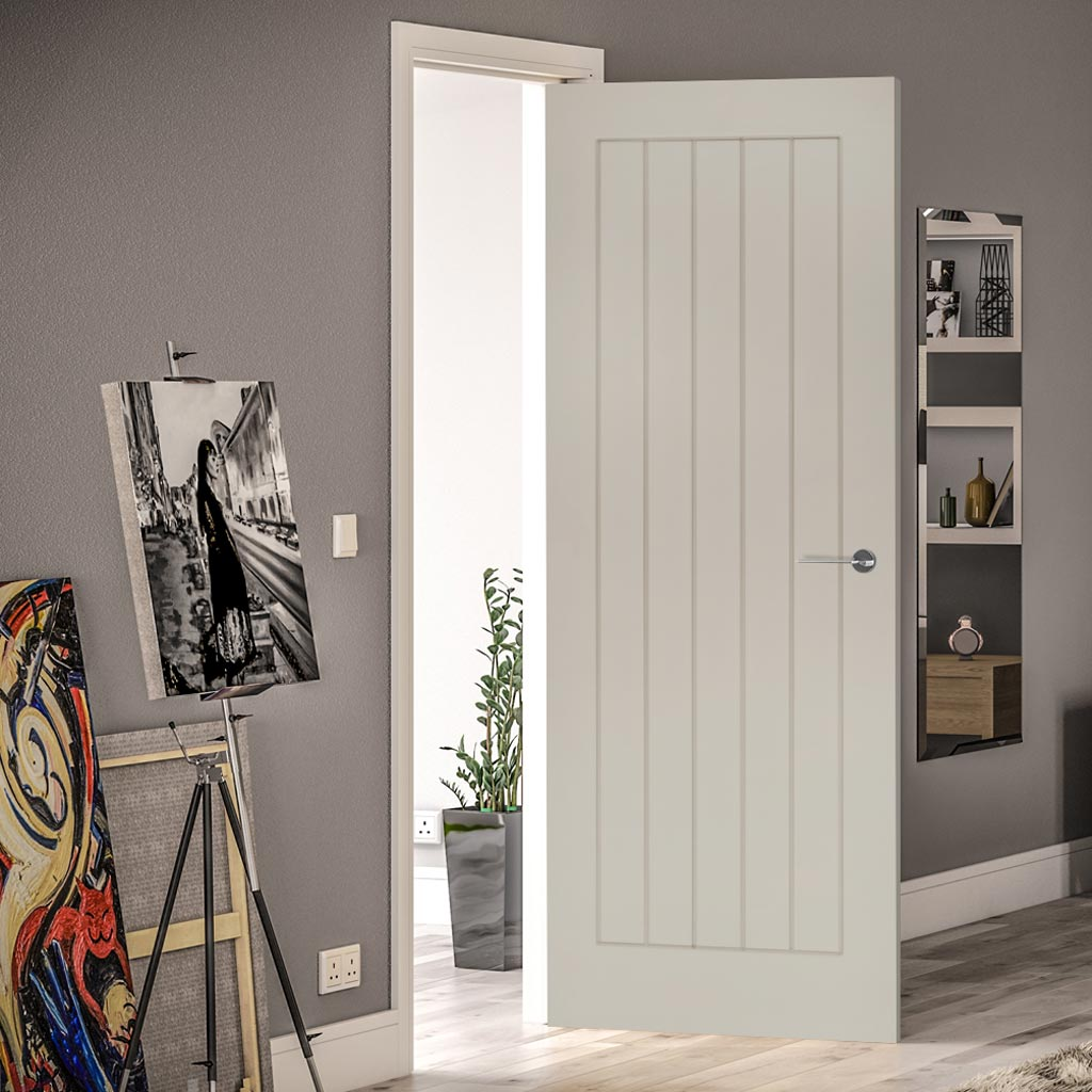 Prefinished Light Grey Colour Ely Door