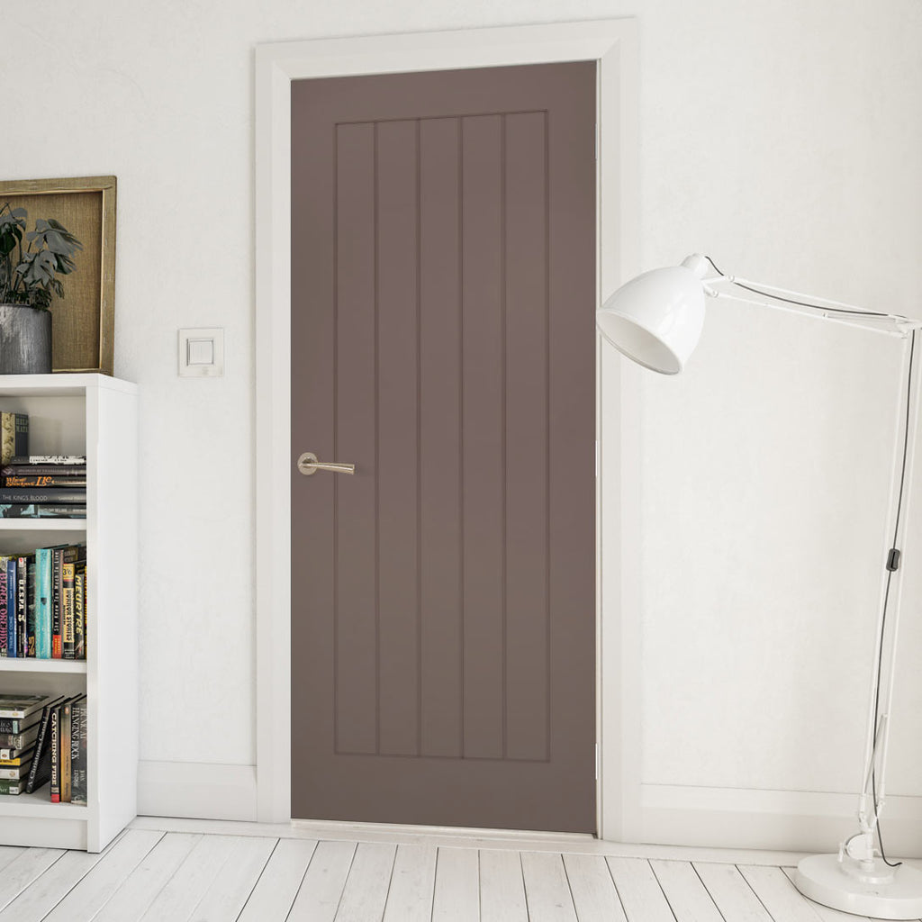 Prefinished Mocha Brown Colour Ely Door