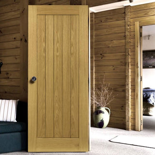 Image: Ely Real American White Oak Veneer Door - Prefinished