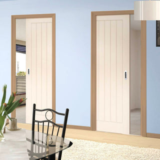 Image: Ely Unico Evo Pocket Doors - White Primed
