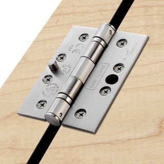 Image: Stainless Steel: Stainless Steel Ball Bearing Security Class 13 Hinge, also suits fire doors.
