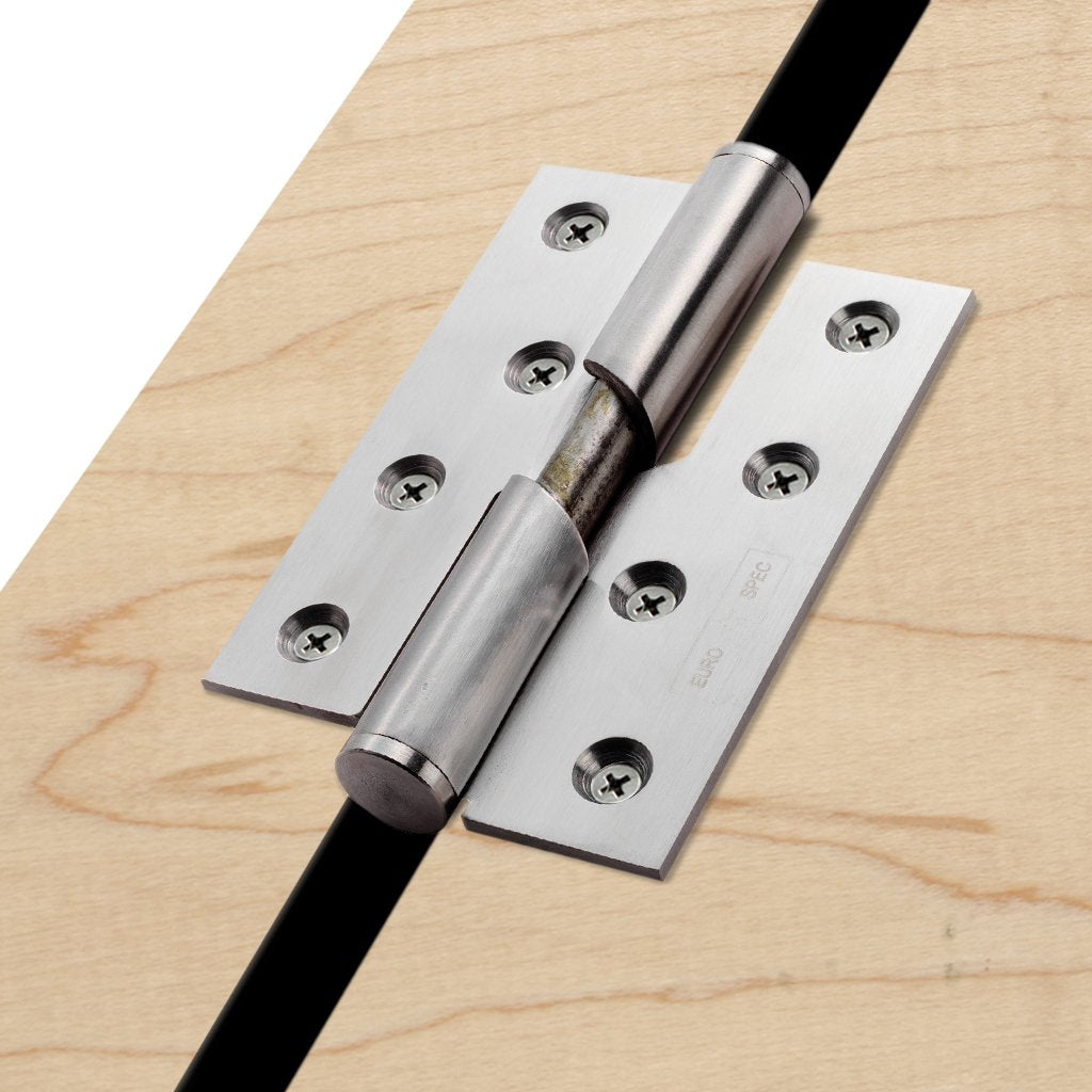 Stainless Steel Rising Butt Hinge Pair Right or Left Hand, Not suitable for fire doors.