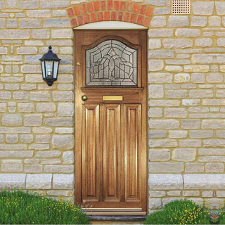 Image: Classic Mahogany Estate Crown Door - Tri Glazing