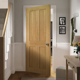 Image: Eton Real American White Oak Fire Door - 1/2 Fire Rated - Unfinished