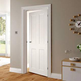 Image: Eton White Primed Victorian Shaker Fire Door - 1/2 Hour Fire Rated