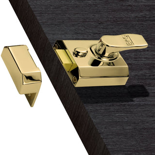 Image: Electro Brass: Eurospec RCN 60mm Rim Door Lock, For broader door stiles.