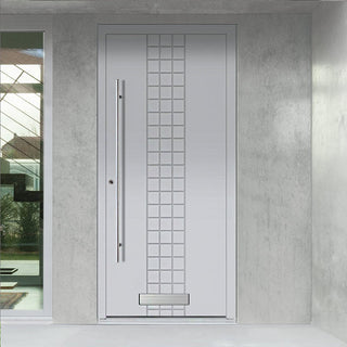 Image: External Spitfire Aluminium S-200 Door - 1725 CNC Grooves Solid - 7 Colour Options