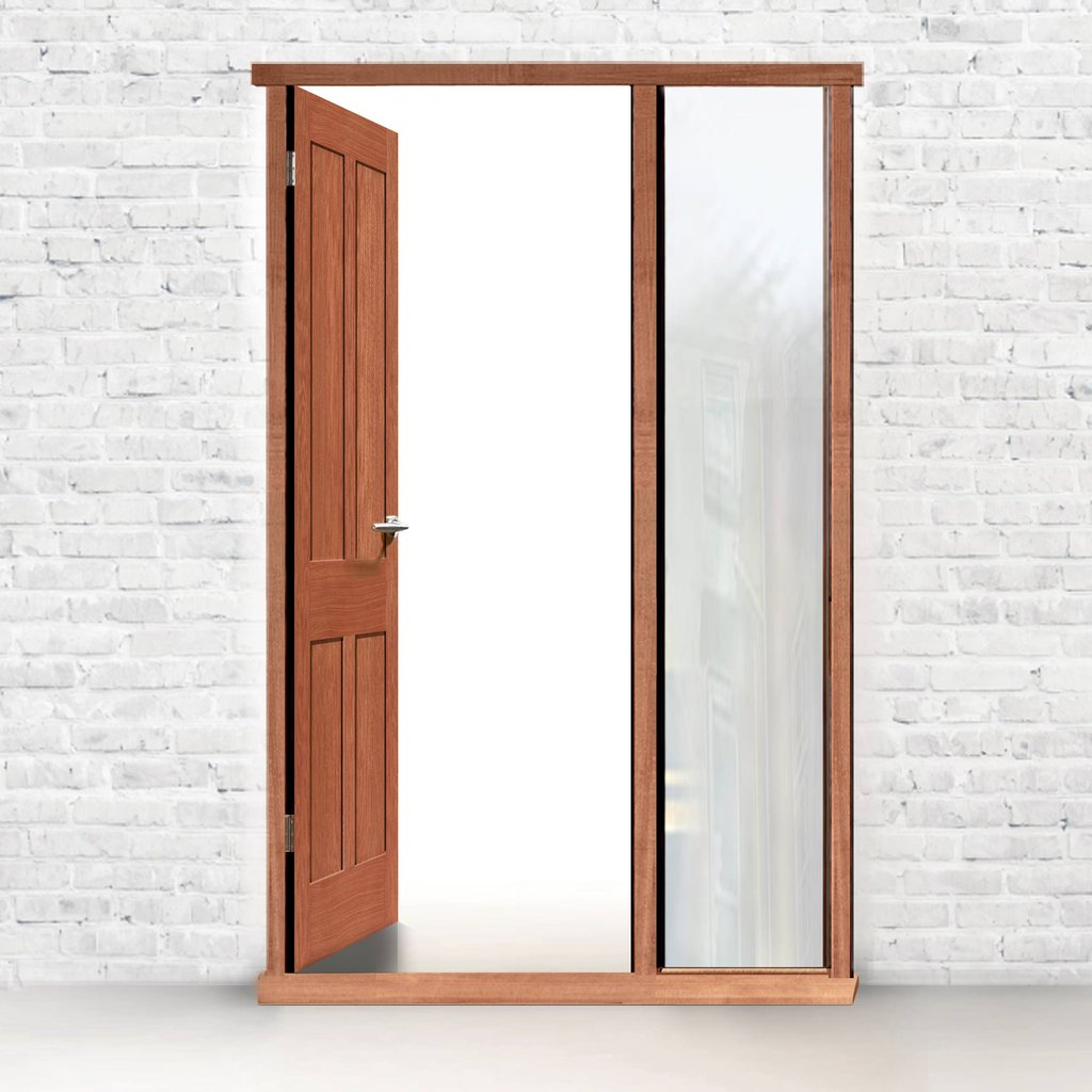 Exterior Door Frame with side glass aperture, Made to size, Type 2 Model 2.