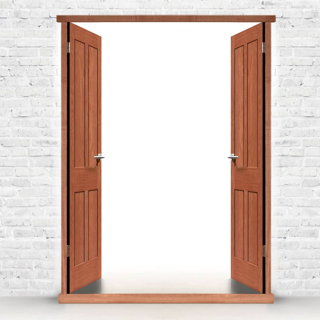 Exterior Double Door Frame, Type 1 for Double Doors, Made to size, with or without threshold or cill.