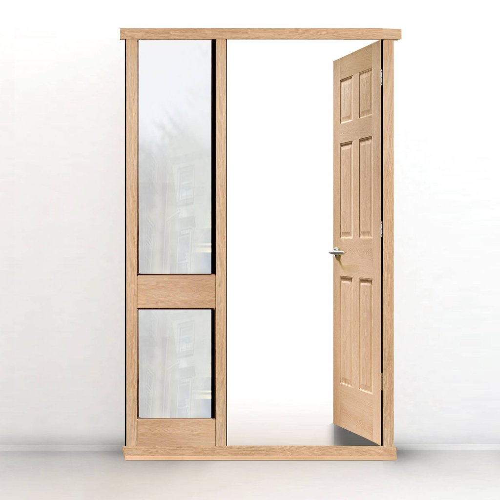 Exterior Door Frame with side glass apertures, Made to size, Type 2 Model 5.