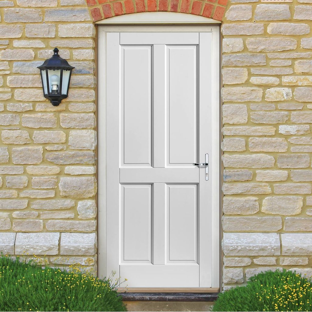 JBK Colonial Extreme Weather White Door