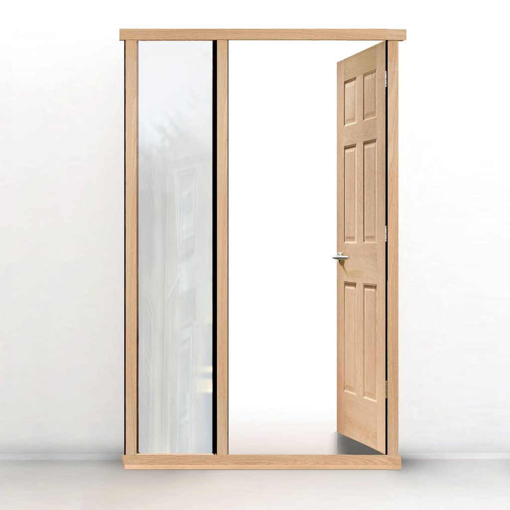 Exterior Door Frame with side glass aperture, Made to size, Type 2 Model 1.