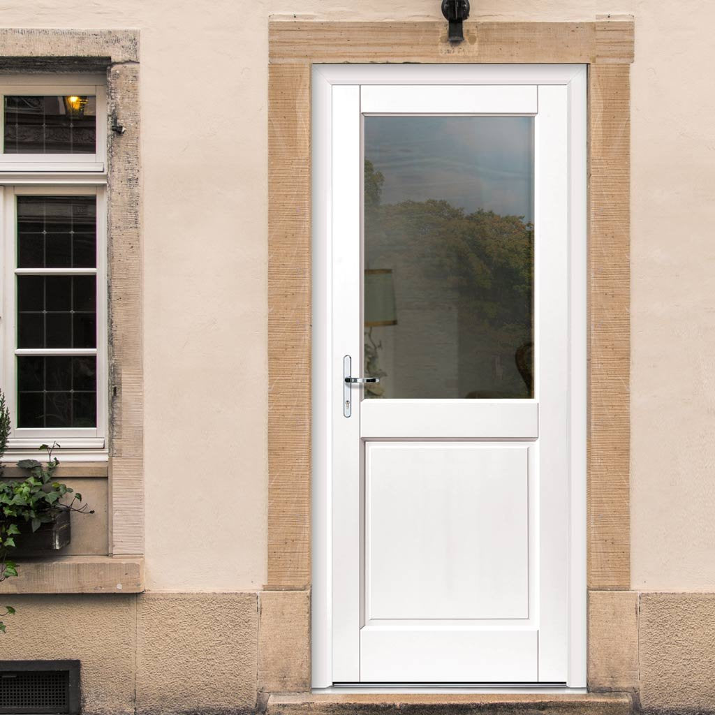 JBK 2XG Extreme Weather White Door - Clear Glass