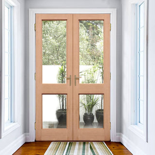 Image: EXTERIOR Hemlock 2XGG Door Pair - Fit Your Own Glass