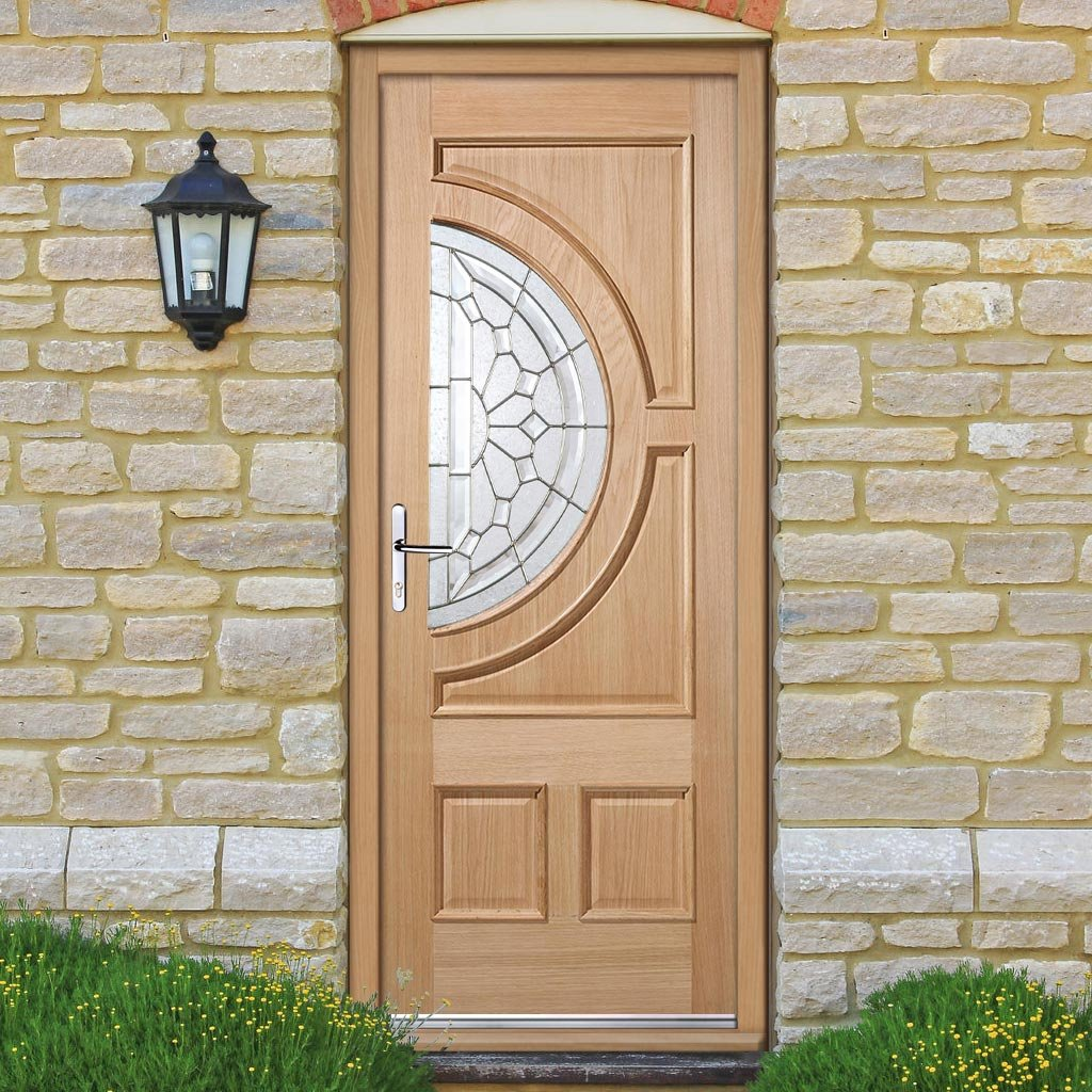 Empress Exterior Oak Door and Frame Set - Zinc Double Glazing, From LPD Joinery