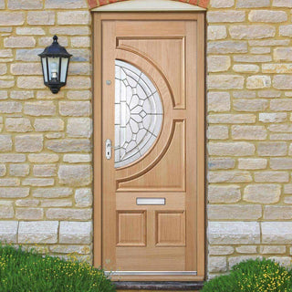 Image: Empress External Oak Door - Zinc Clear Tri Glazing