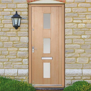 Image: Copenhagen External Oak Door - Frosted Double Glazing