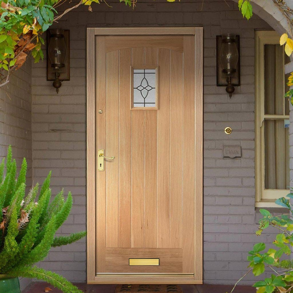 Cottage External Oak Door - Bevel Tri Glazed