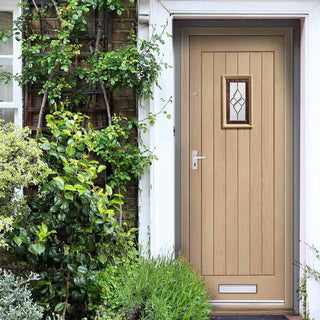 Image: Chancery Onyx Oak Door - Bevelled Style Tri Glazed