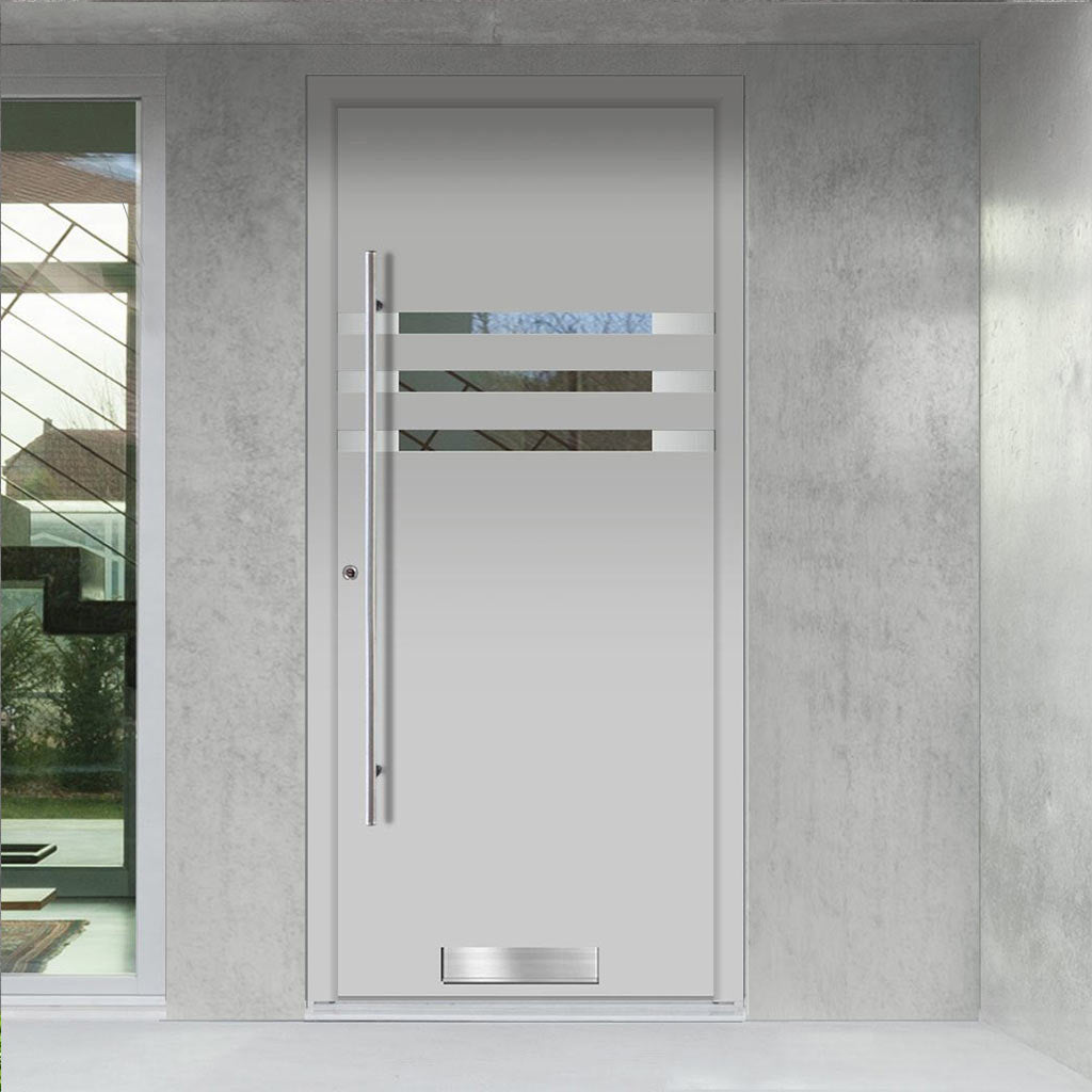 External Spitfire Aluminium S-200 Door - 1290 Stainless Steel - 7 Colour Options