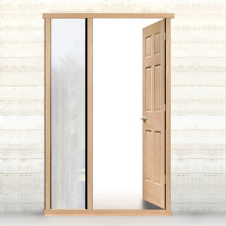Image: External LPD Universal Oak Door Frame - Shown with Single Side Aperture