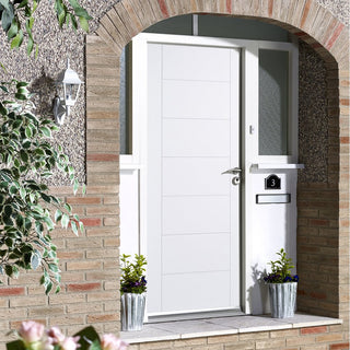 Image: GRP White Modica Composite Door