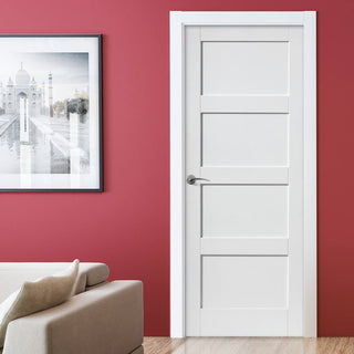 Image: Montserrat Fire Door - White Primed - 1/2 Hour Fire Rated