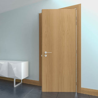 Image: Bespoke Fire Door - Flush American White Oak Veneer - 60 Minute Fire Rated - Prefinished